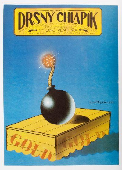 Movie Poster, The Ruffian, 80s Cinema Art