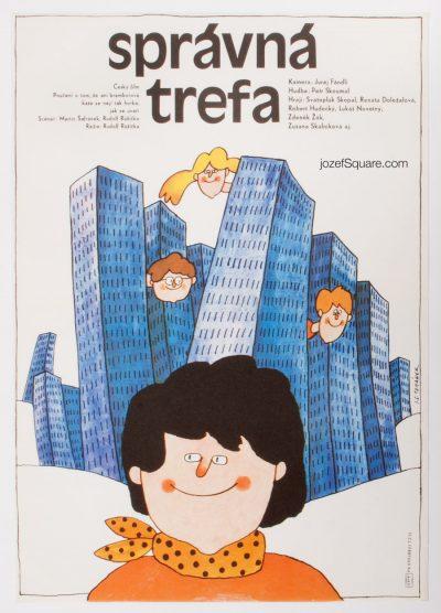 Kids Movie Poster, Sure Shot, 80s Cinema Art