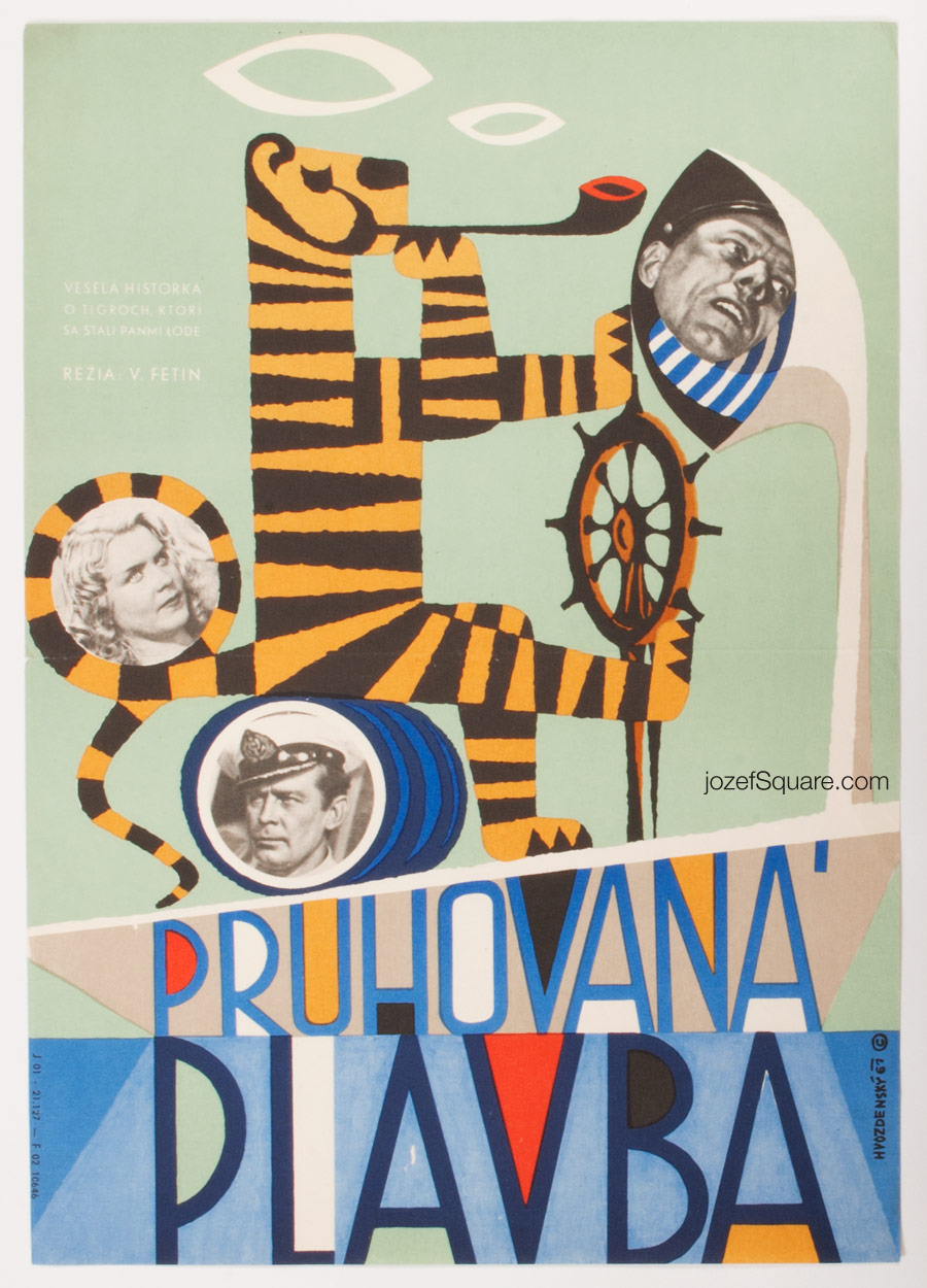 Movie Poster, Striped Trip, Josef Hvozdensky, 60s Art