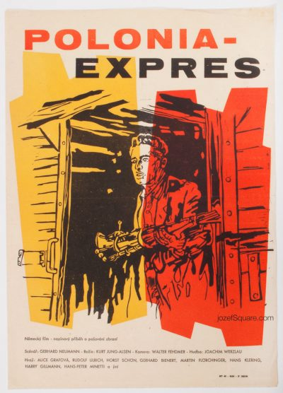 50s Movie Poster, Polonia-Express, Abstract Cinema Art