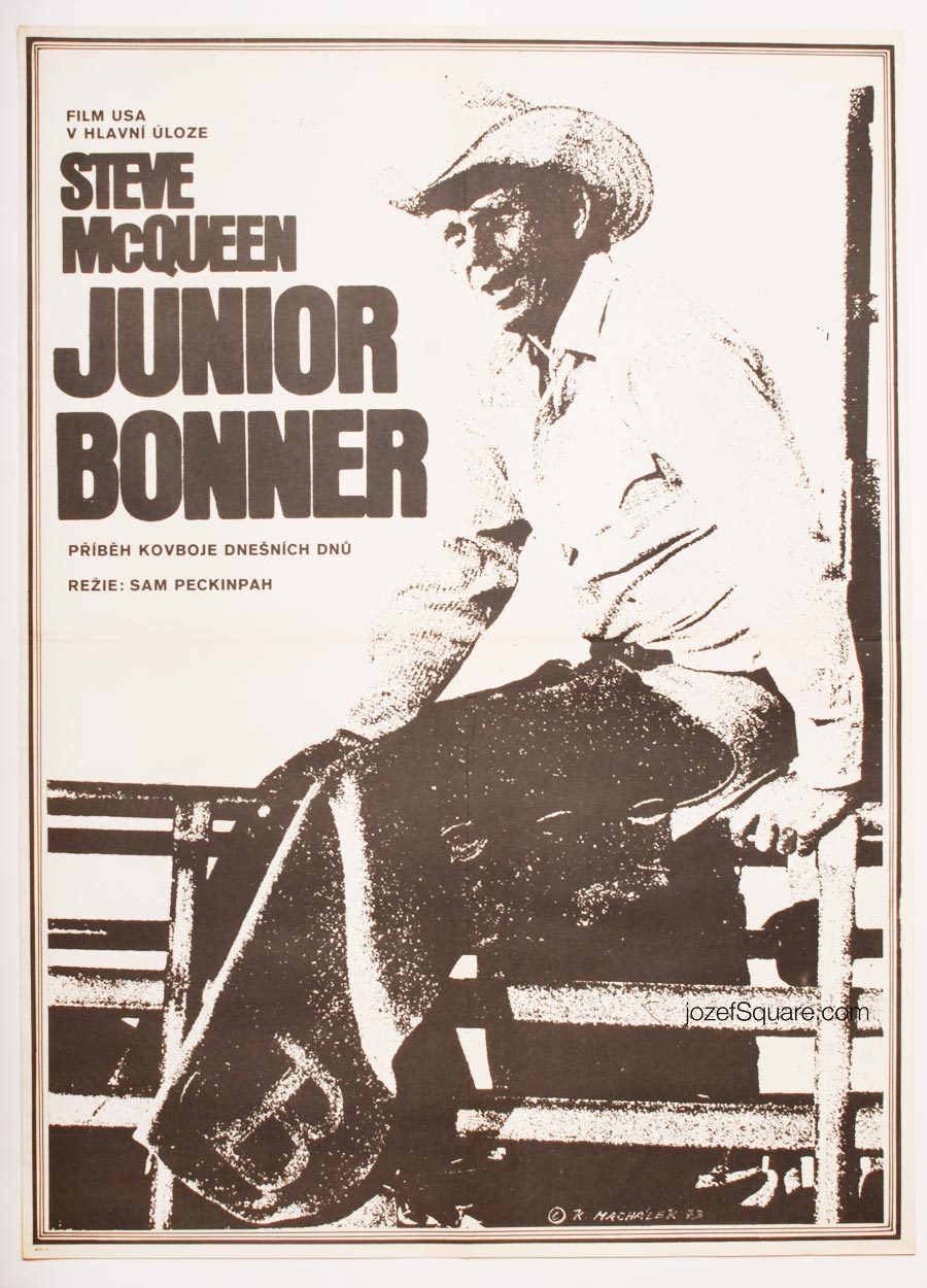 Western Movie Poster, Junior Bonner, Steve McQueen