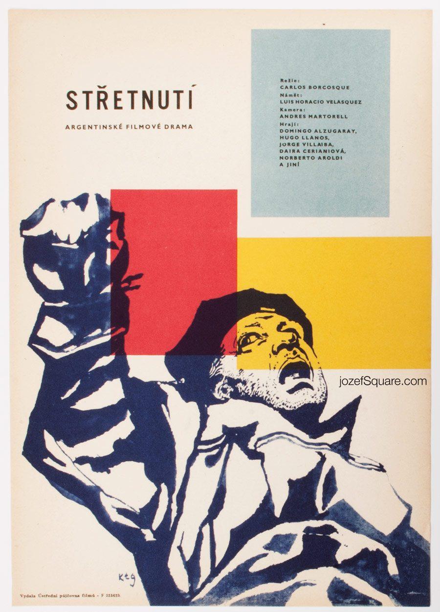 Movie Poster, Karel Teissig, 60s Cinema Art