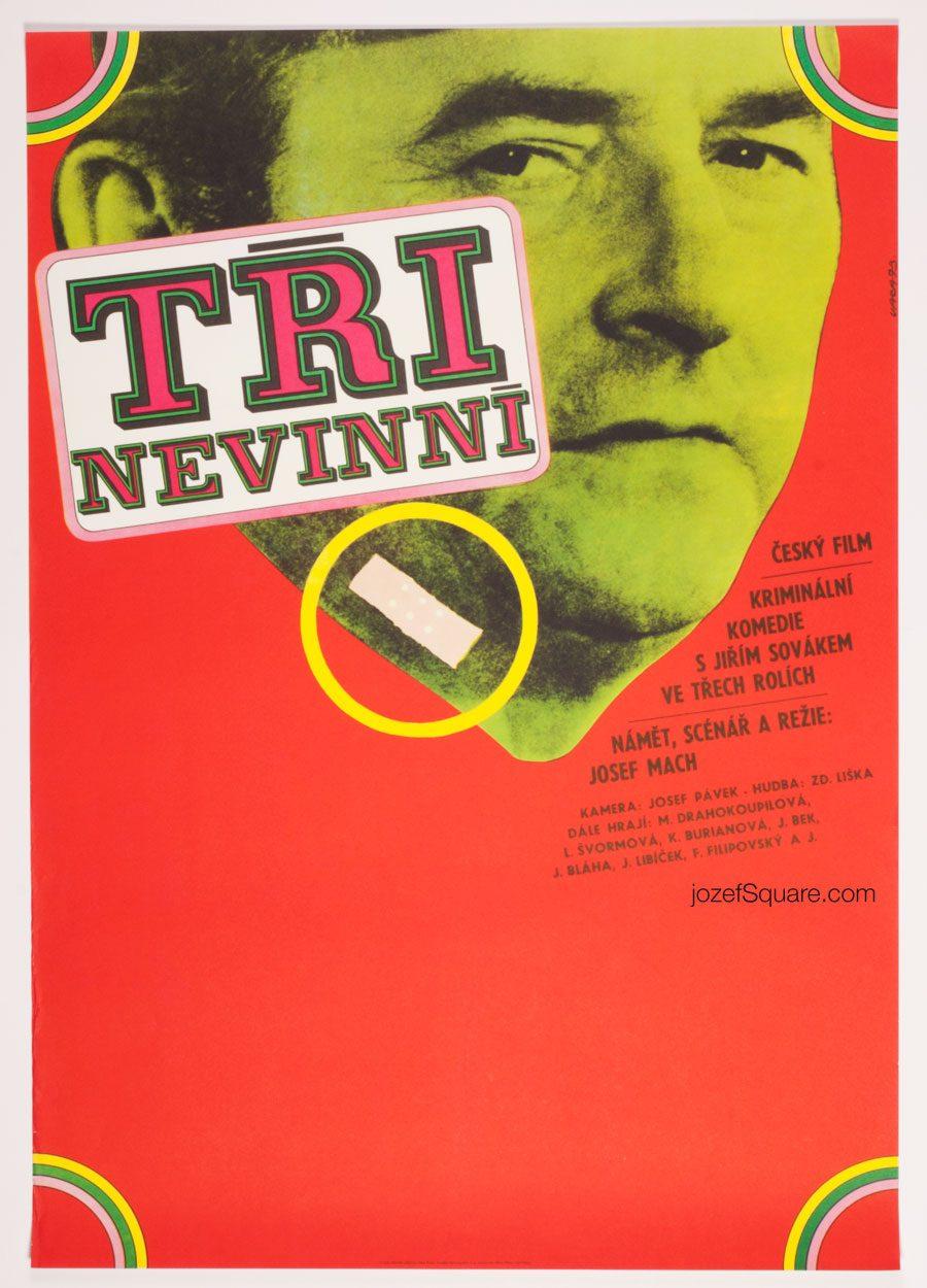 Movie Poster, Three Innocents, 70s Cinema Art