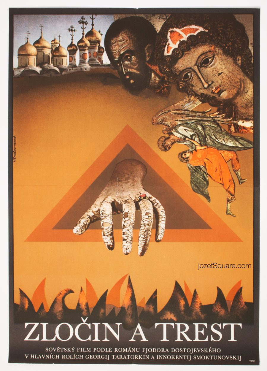 Movie Poster, Crime and Punishment, 70s Collage Cinema Art