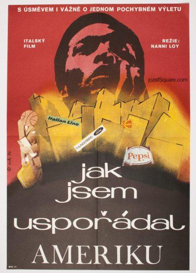 Movie Poster, I Fix America and Return, 70s Collage Cinema Art