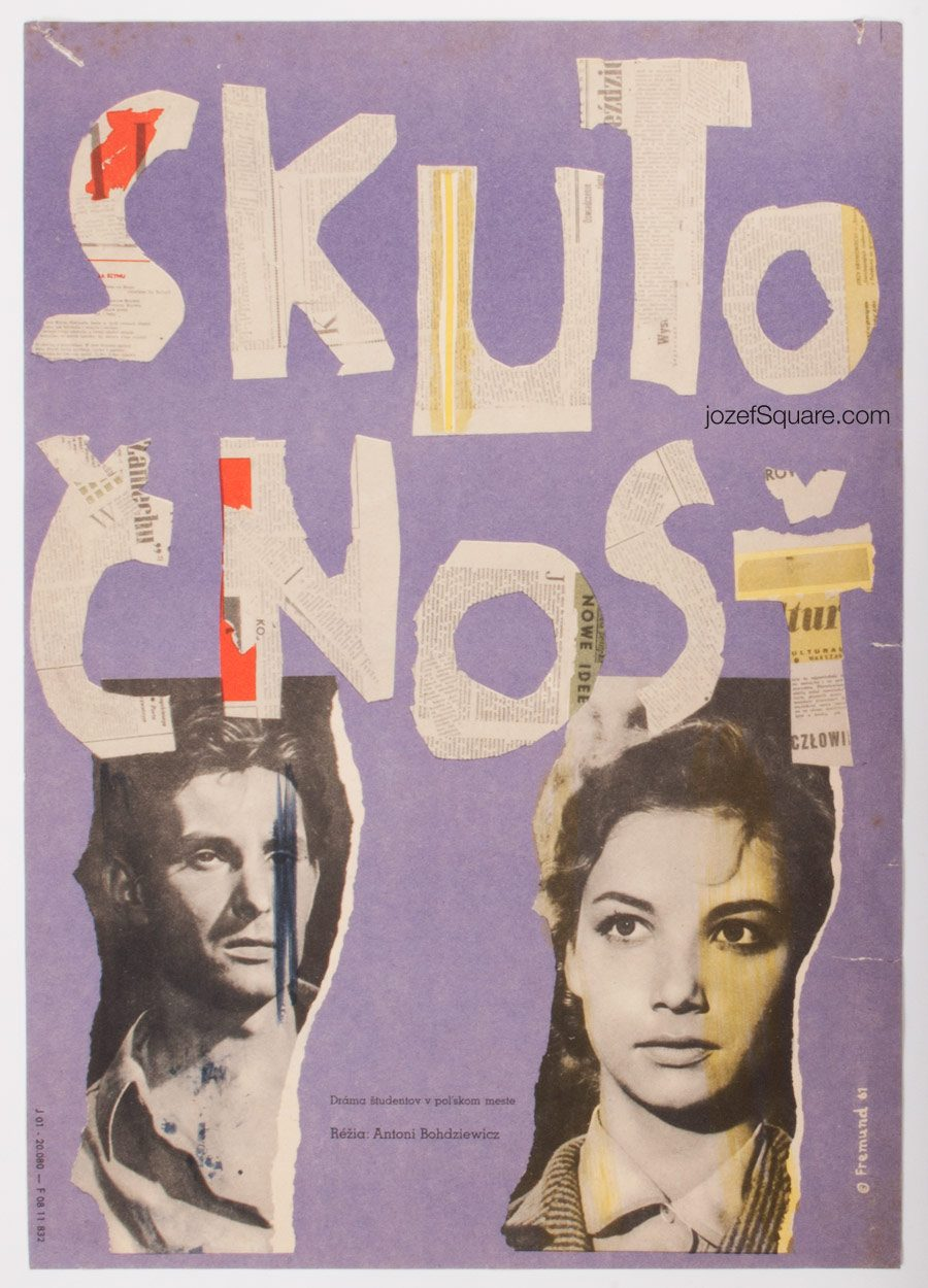 Movie Poster, Reality, 60s Cinema Art
