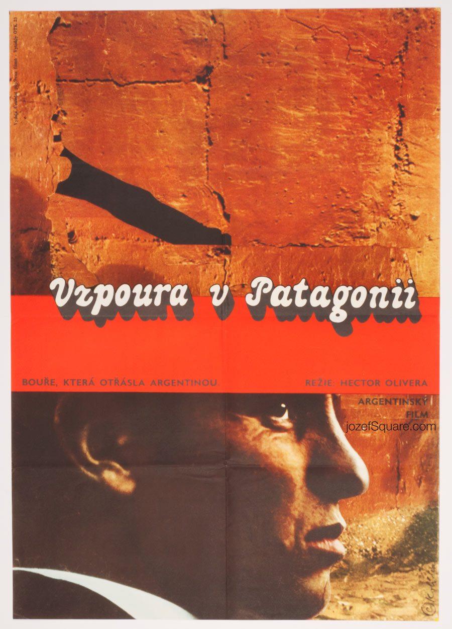 Movie Poster, Rebellion in Patagonia, 70s Cinema Art
