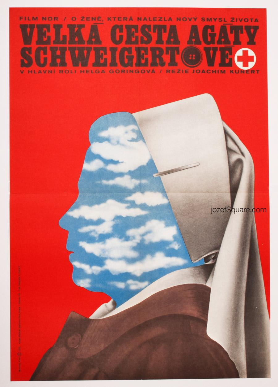 Movie Poster, The Big Journey of Agathe Schweigert, 70s Cinema Art