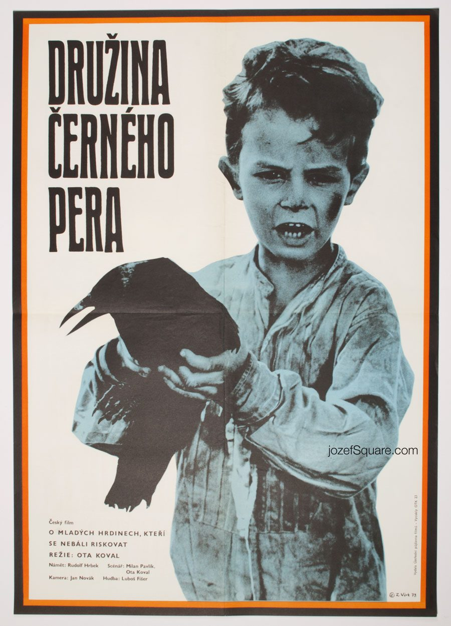 Movie Poster, The Company of the Black Feather, 70s Cinema Art