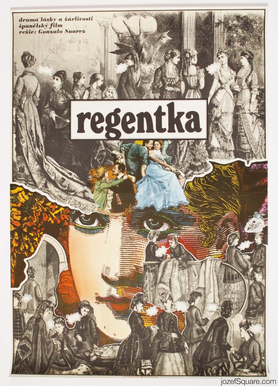Movie Poster, The Regent's Wife, 70s Zdenek Ziegler