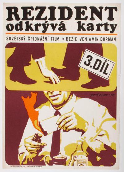 Movie Poster, Secret Agent's Destiny, 70s Poster Art