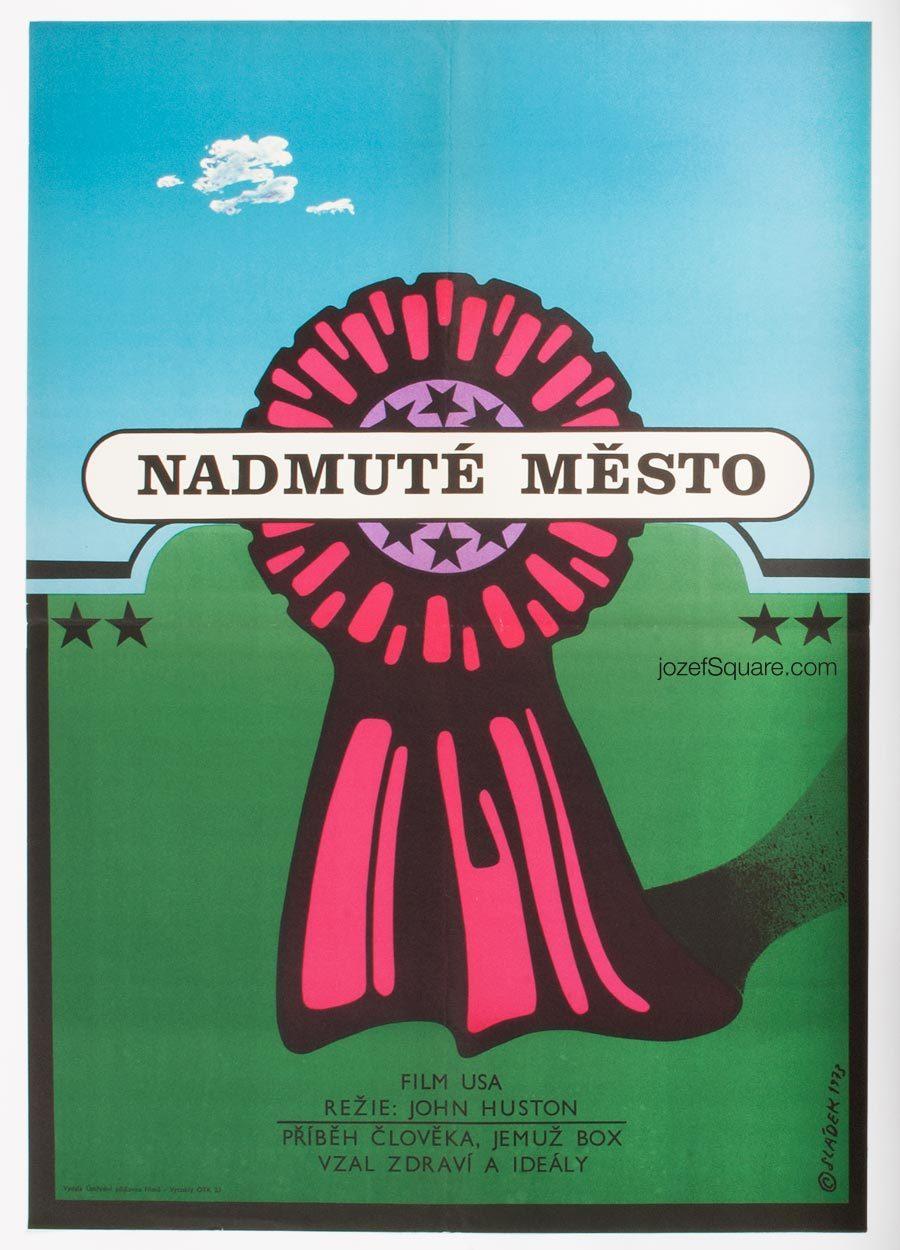 Fat City Movie Poster, 70s Cinema Art