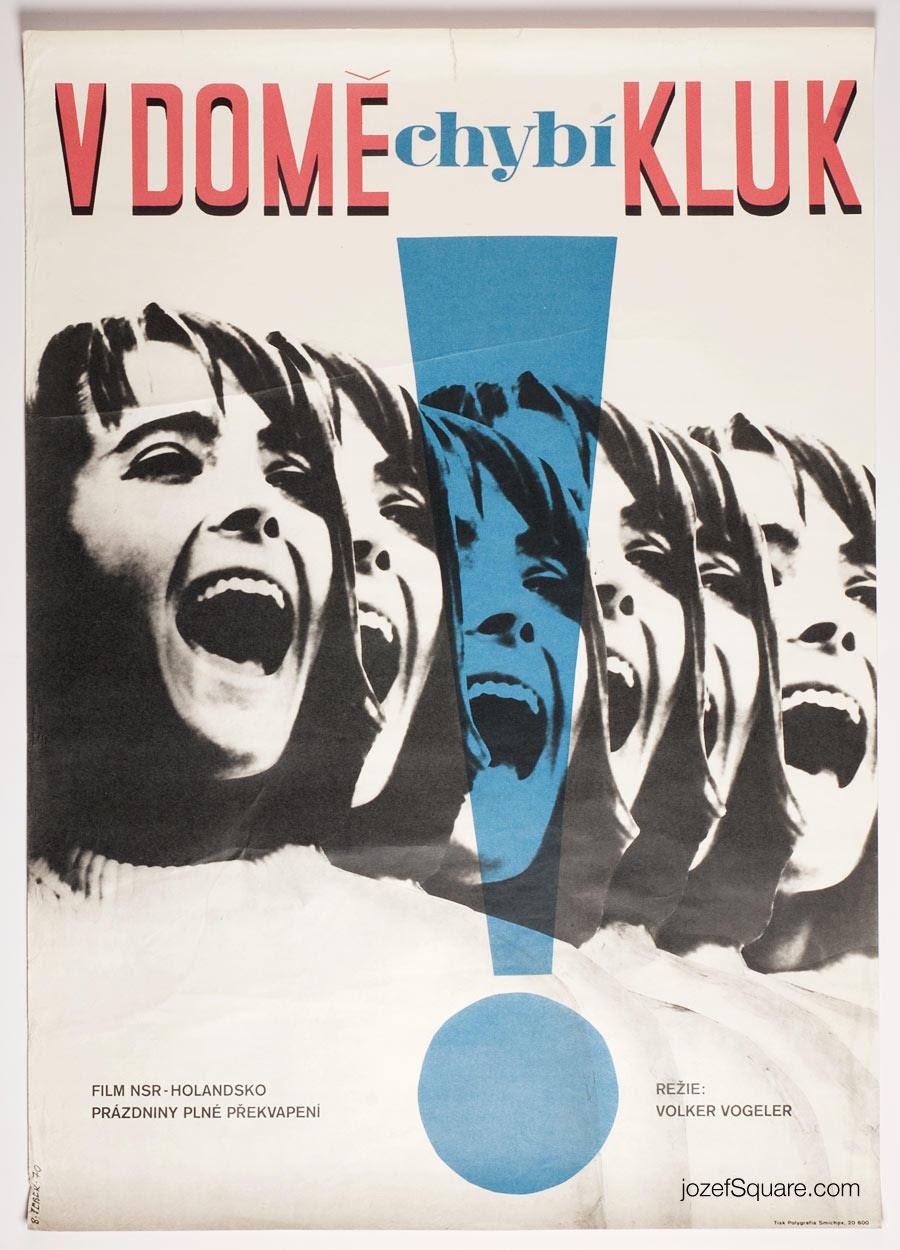 Kids Movie Poster, Vintage typography, Cinema Art