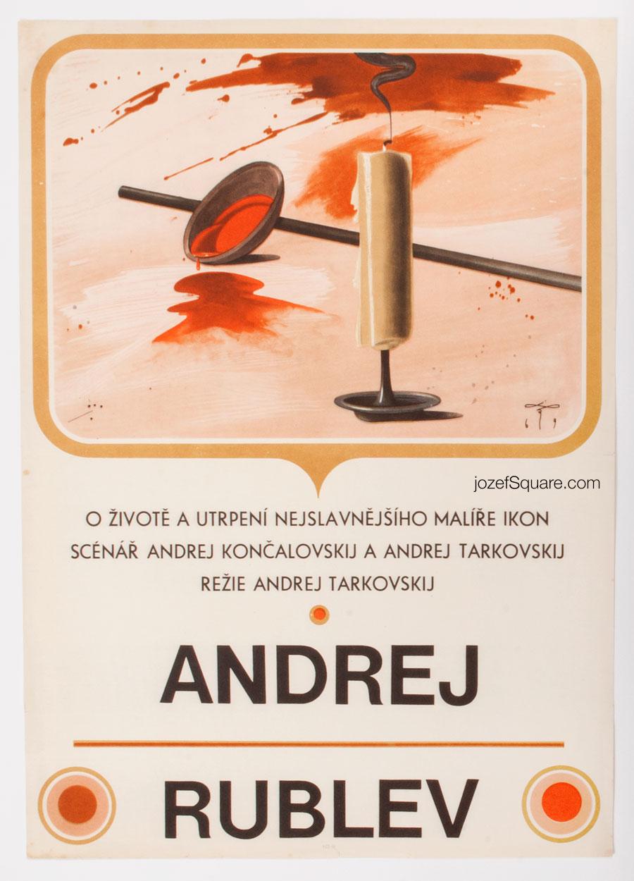 Andrei Tarkovsky Movie Poster, Andrei Rublev, 60s Cinema