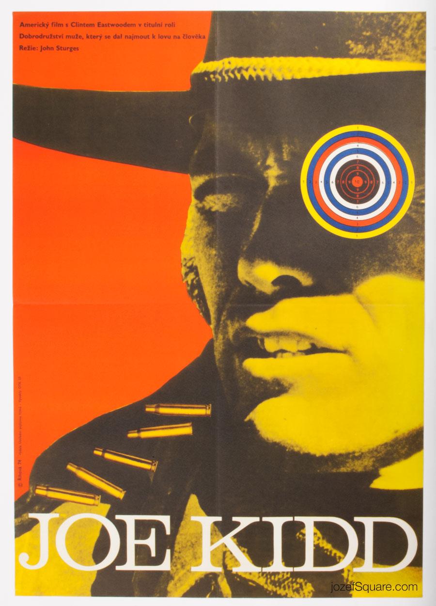 Joe Kidd Movie Poster, 70s Western Cinema Art