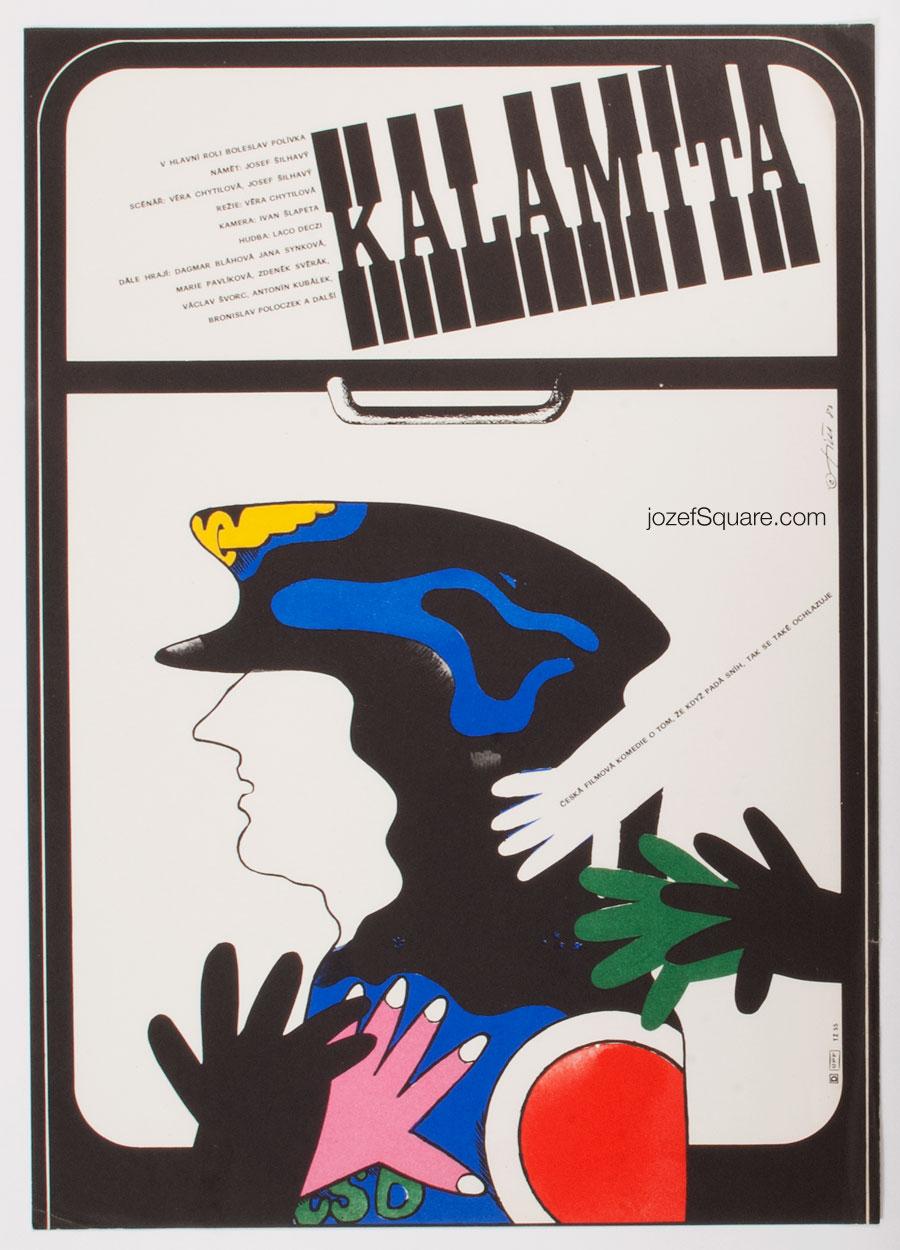 Movie Poster, Calamity, Vera Chytilova, 80s Cinema Art