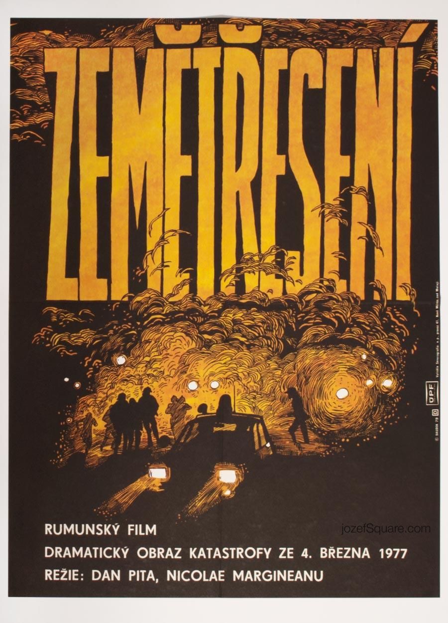 Karel Saudek Movie Poster, This Above All, 70s Illustrated Cinema Art