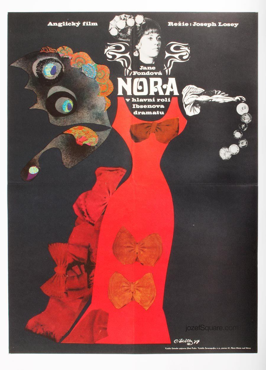 Movie Poster, Karel Teissig, 70s Cinema Art