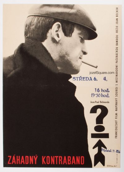 Movie Poster, Backfire, Jean-Paul Belmondo, 60s Cinema Art