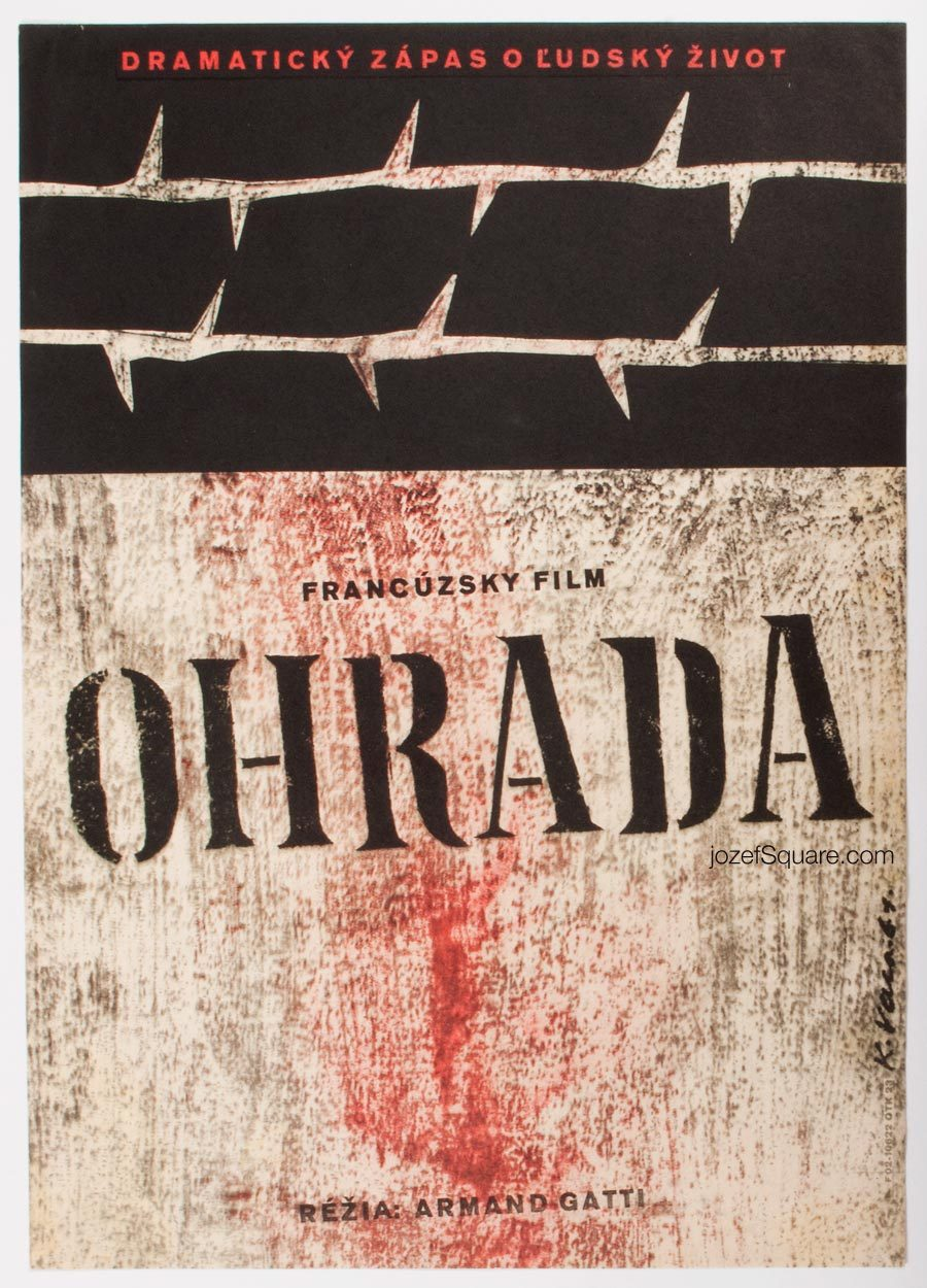 Karel Vaca Movie Poster, Enclosure, 60s Cinema Art