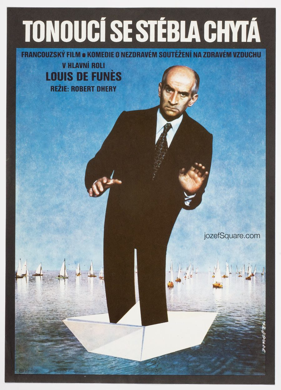 Little Bather movie poster, Louis de Funès, French Cinema Art