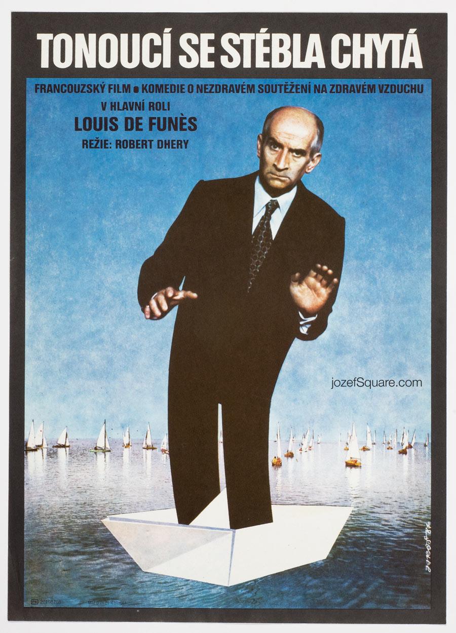 Little Bather movie poster, Louis de Funès, French Cinema Art