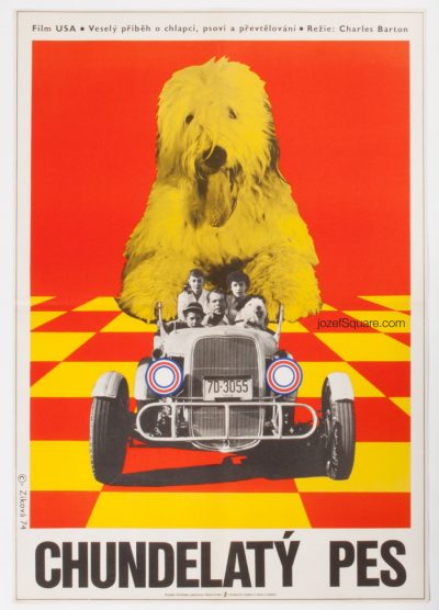 The Shaggy Dog, Kids Movie Poster, Walt Disney Cinema Art