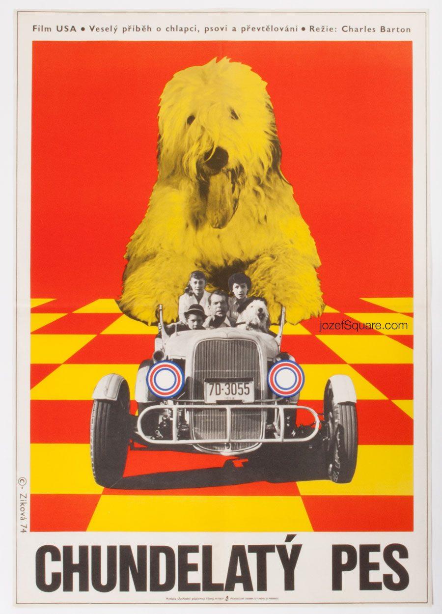 The Shaggy Dog, Kids Movie Poster, Walt Disney Cinema Art