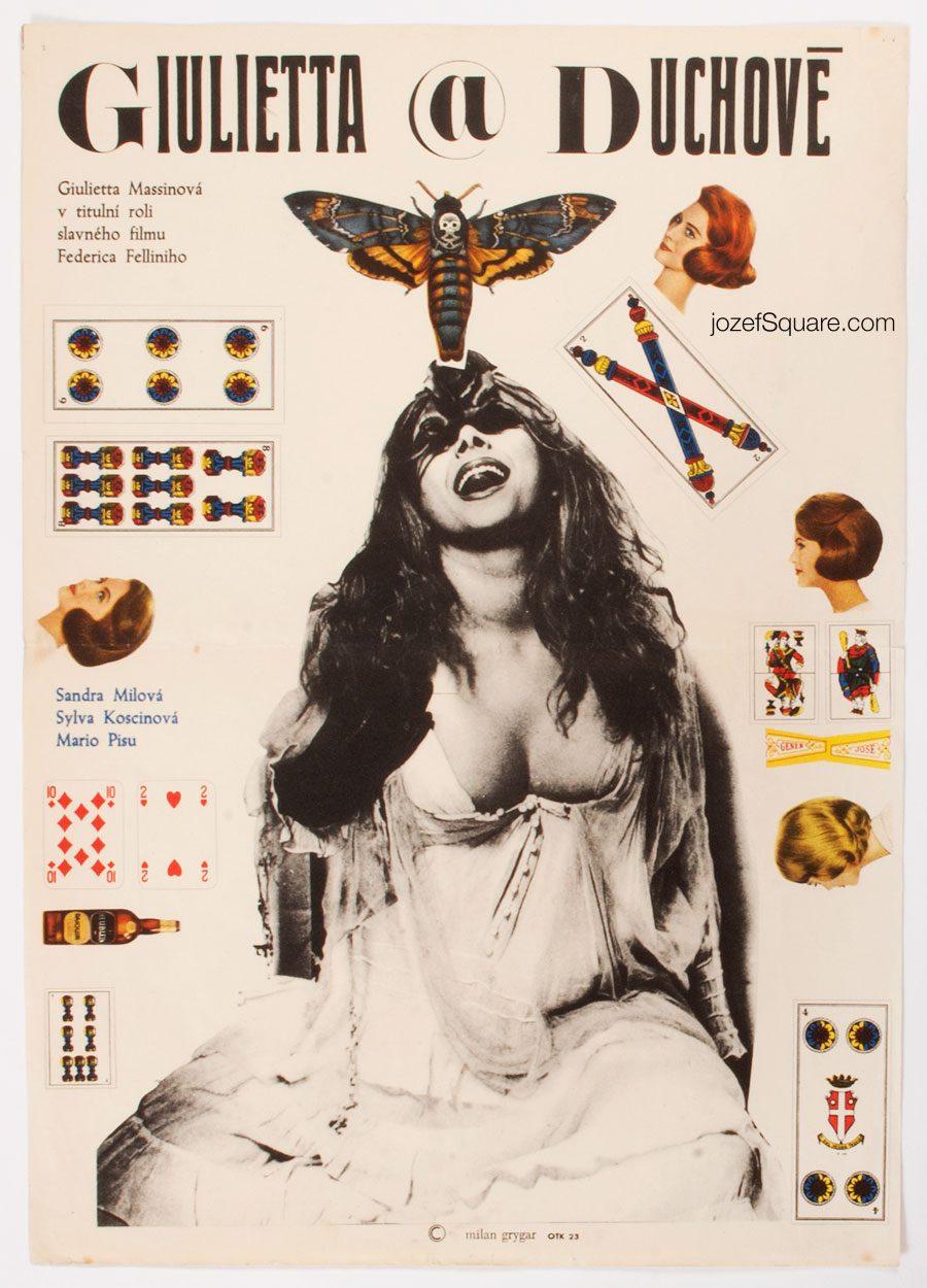 Juliet of the Spirits Movie Poster, Federico Fellini, 60s Cinema Art