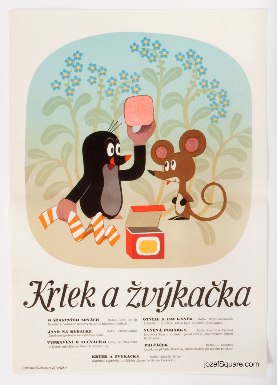 Movie Poster, The Mole and Bubble Gum, Zdenek Miler