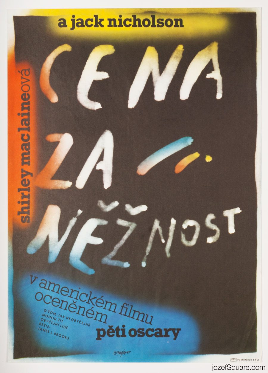Terms of Endearment movie poster, Jack Nicolson, Cinema Art