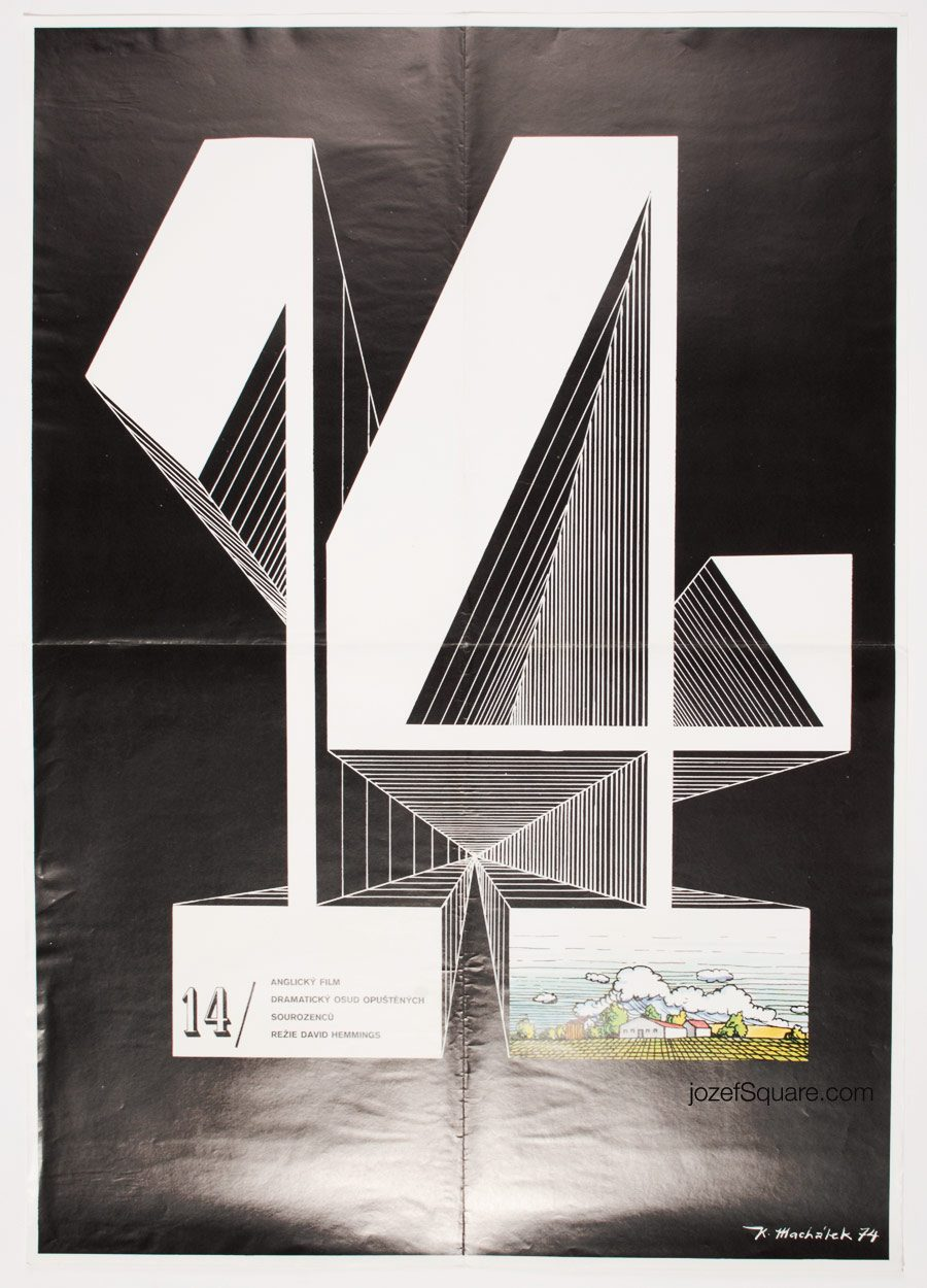 Movie Poster Existence, David Hemmings, Typography Art