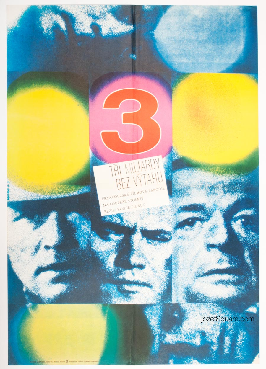 Movie Poster 3000 Million Without an Elevator, 70s Cinema, Abstract Art
