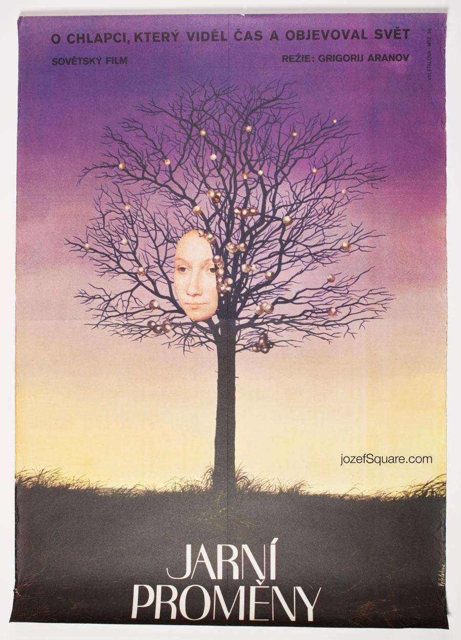 Movie Poster, Spring Changes, Surreal Poster, Cinema Art