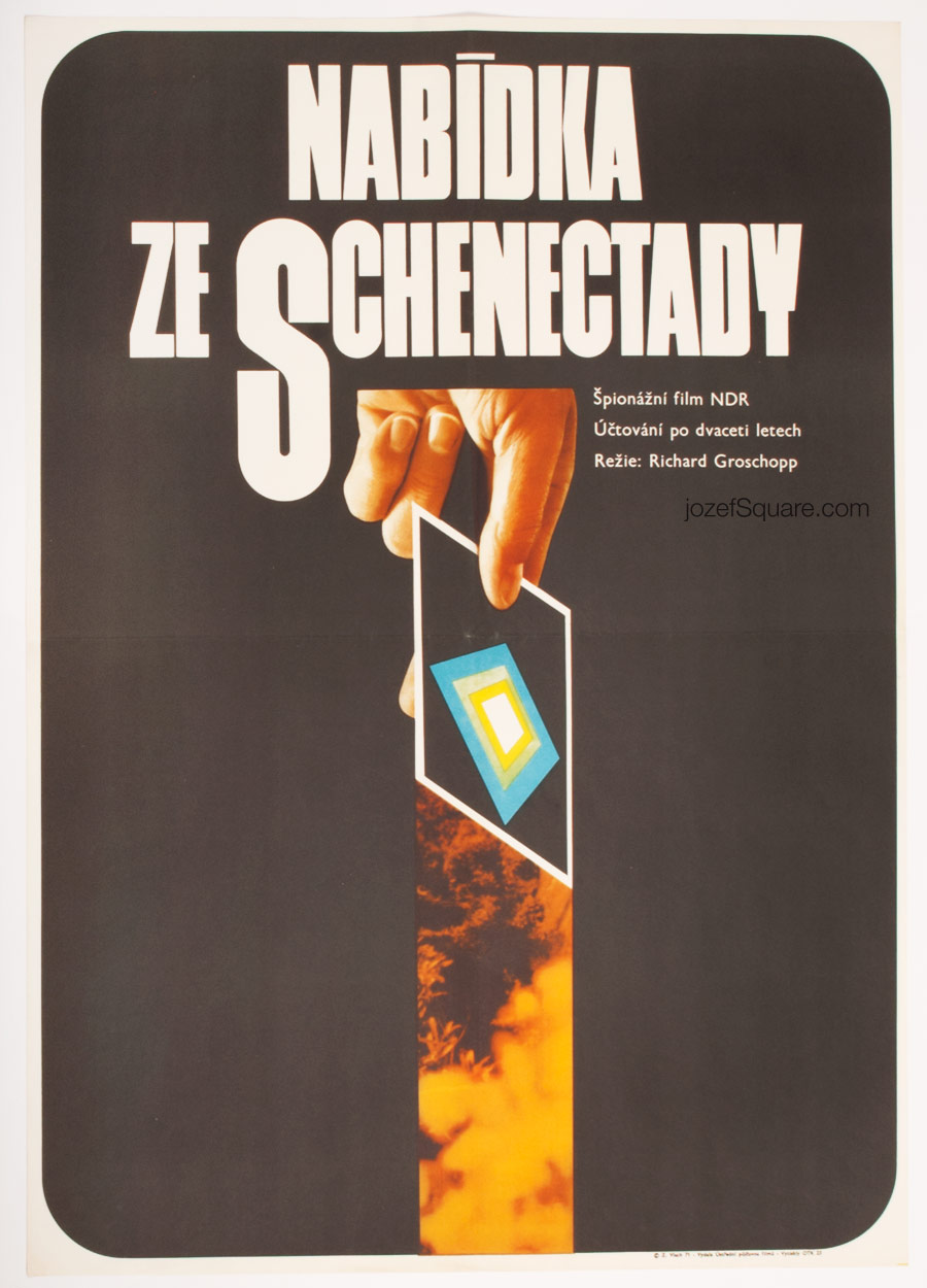 Movie Poster, Offer from Schenectady, 70s Cinema Art