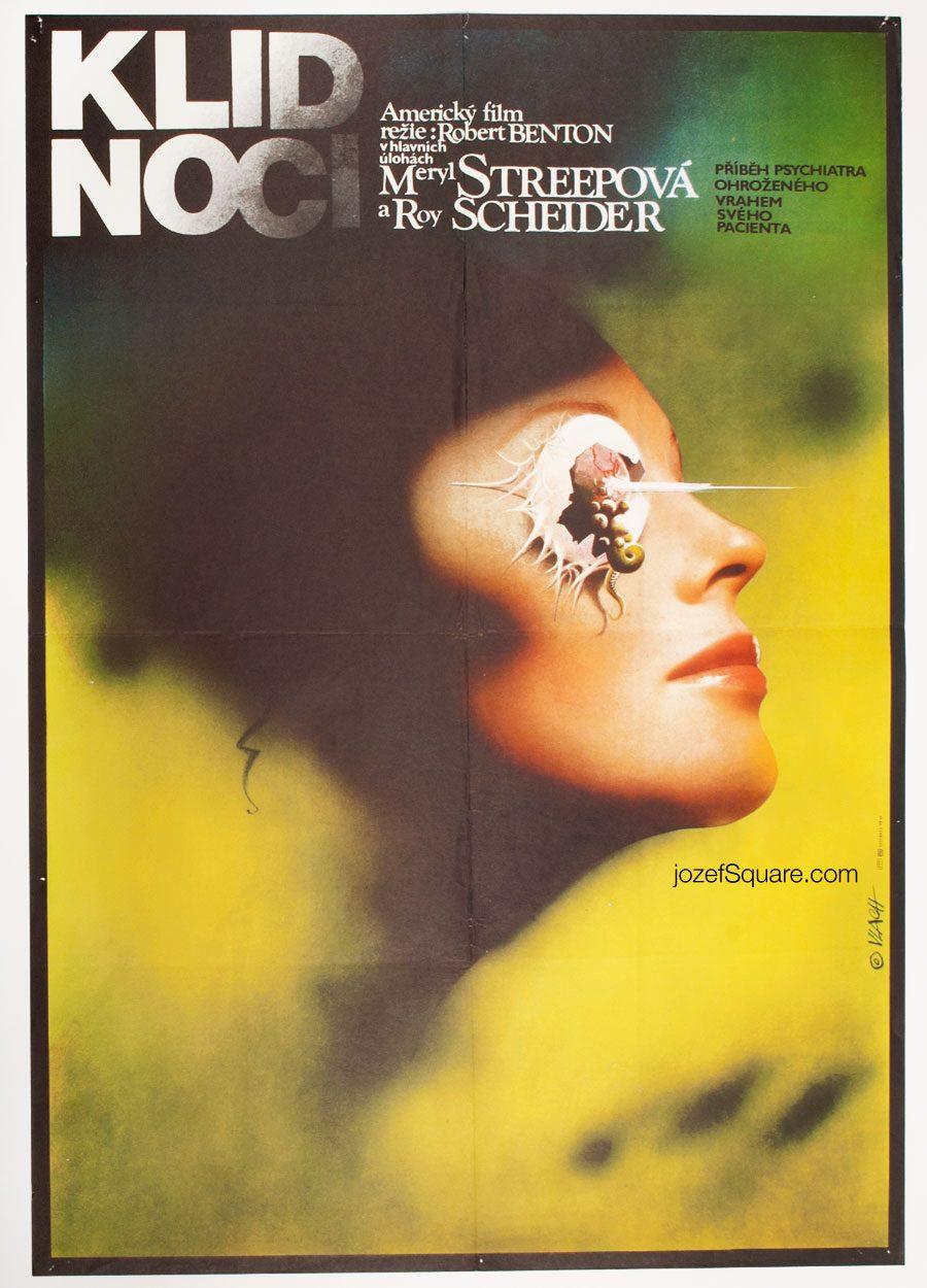 Still of the Night Movie Poster, 80s Cinema Art, Meryl Streep Illustration