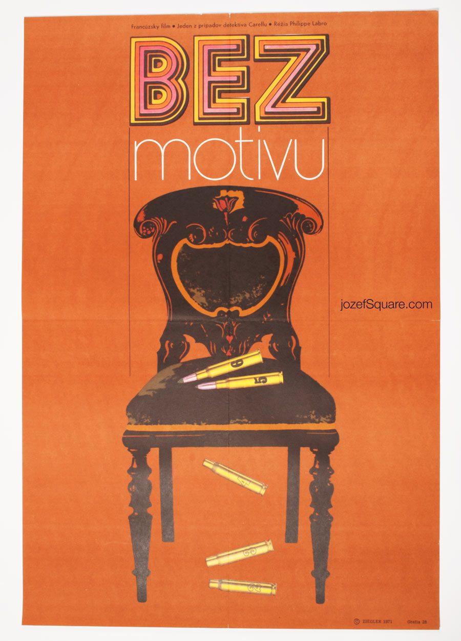 Movie Poster Without Apparent Motive, Ed McBain Cinema Art