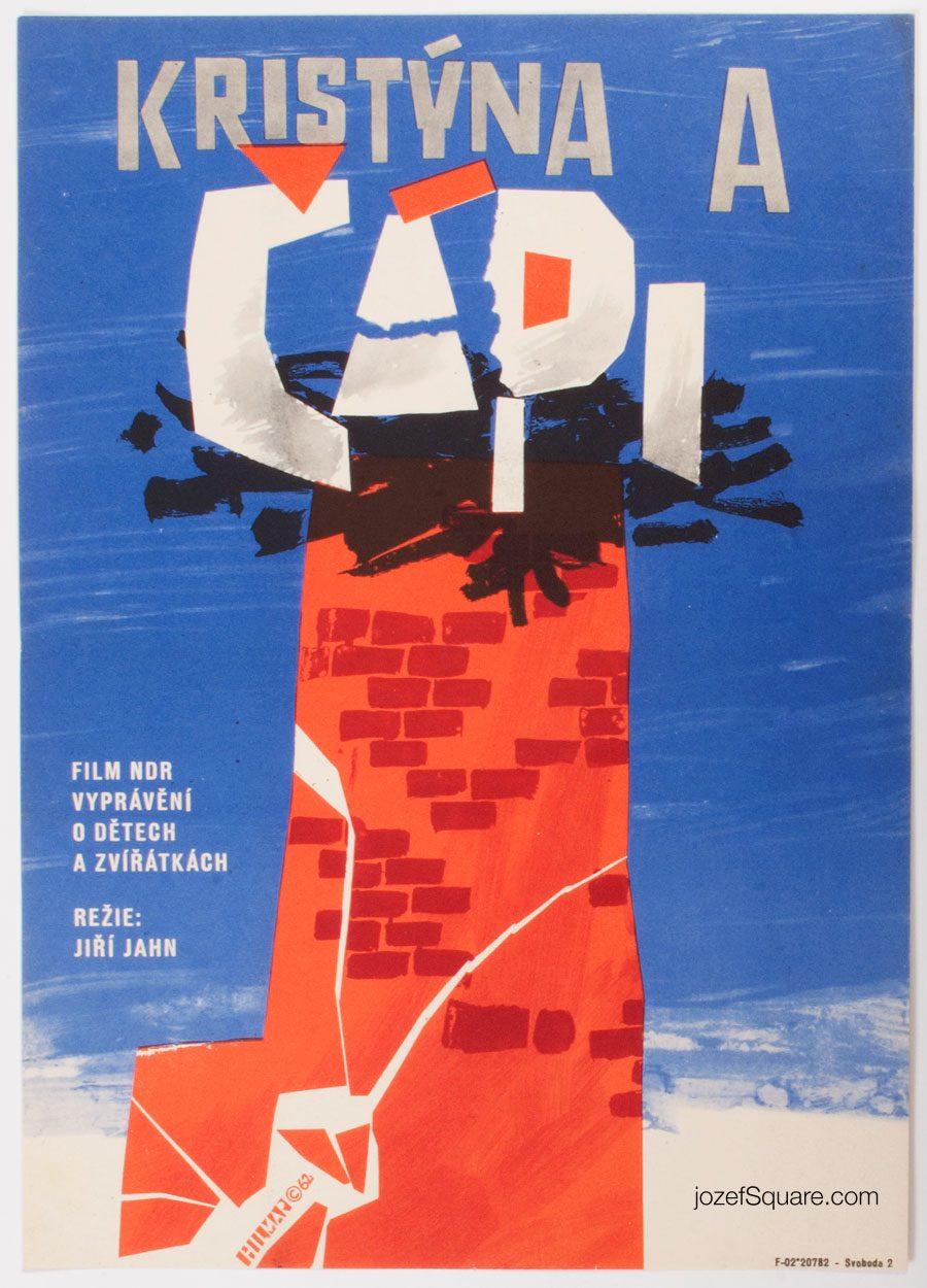 Movie Poster, Christine and the Storks, 60s Cinema Art