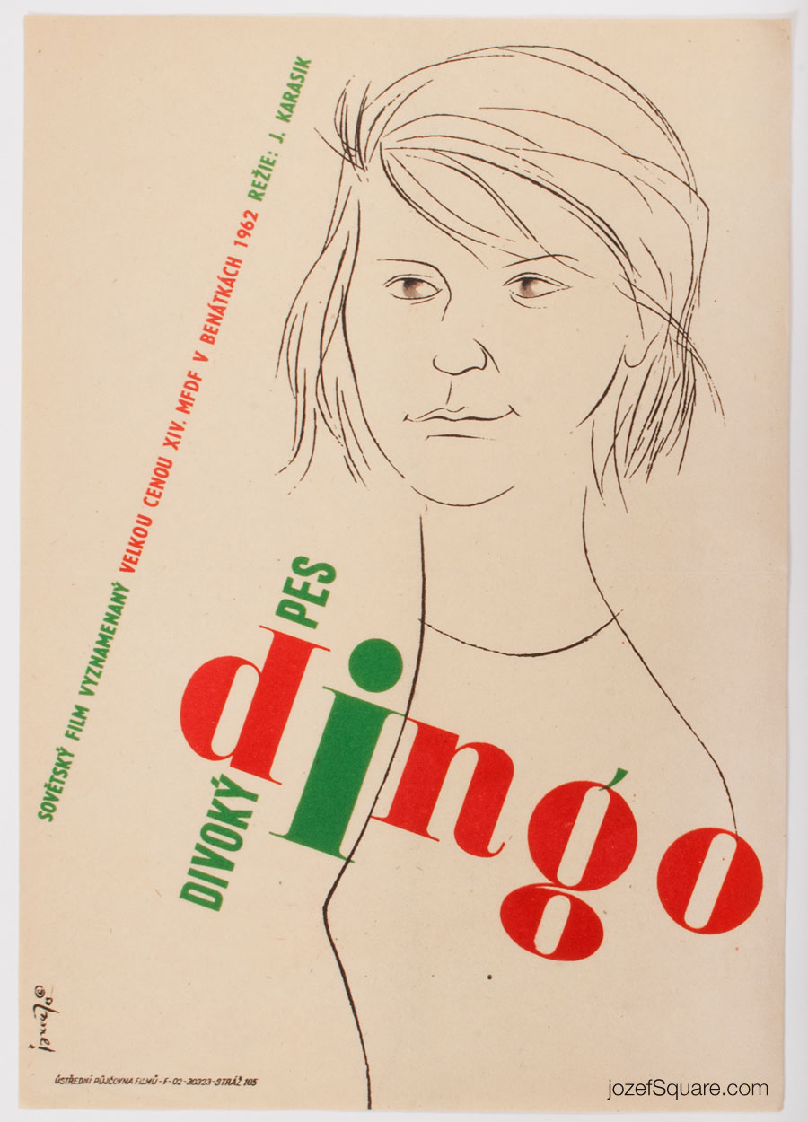 Movie Poster, The Wild Dog Dingo, 60s Cinema Art