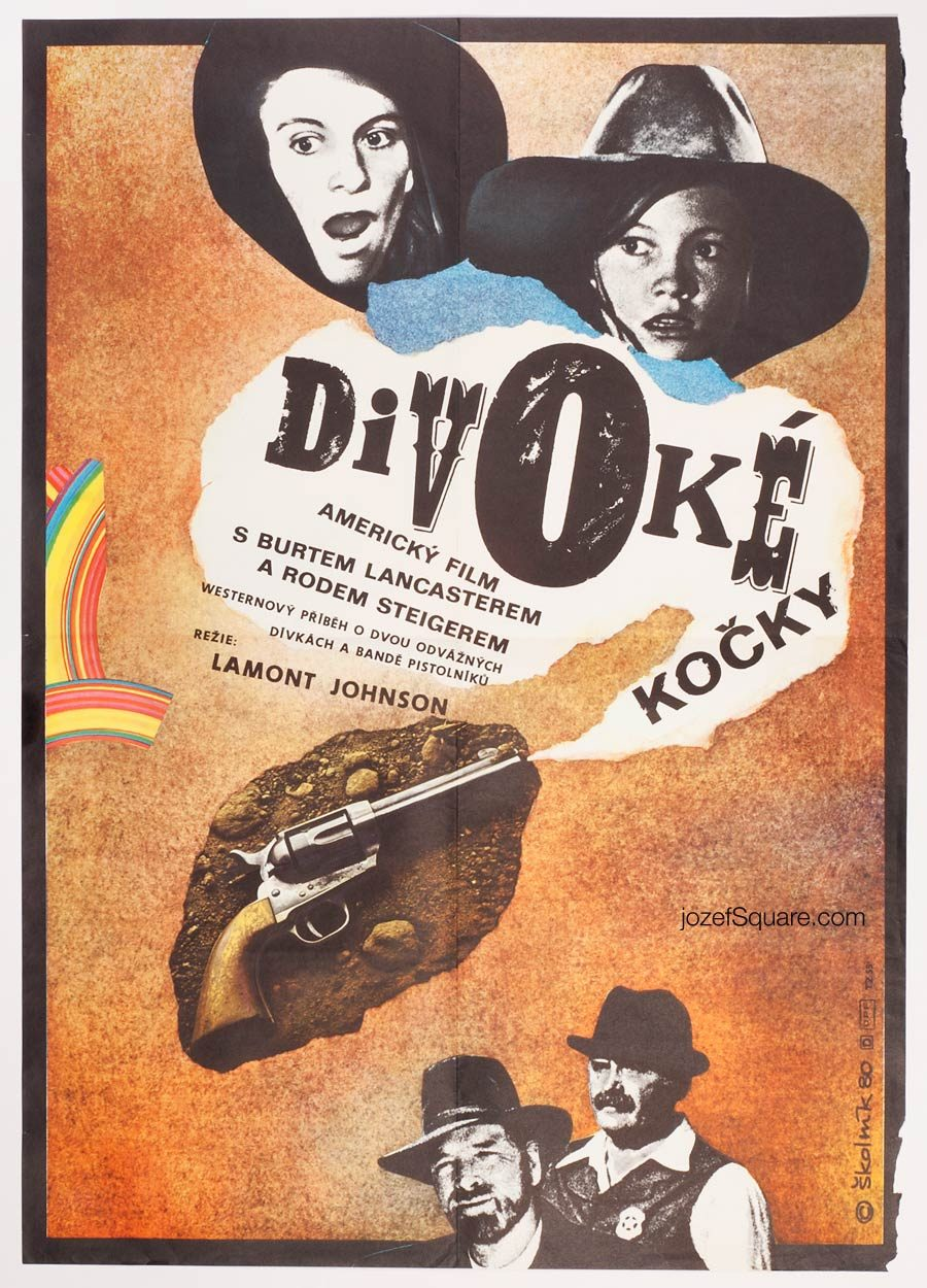 Cattle Annie and Little Britches Movie Poster, 80s Western Cinema Art