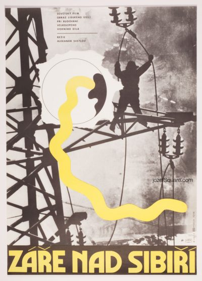 Movie Poster, Glow above Siberia, Karel Vaca