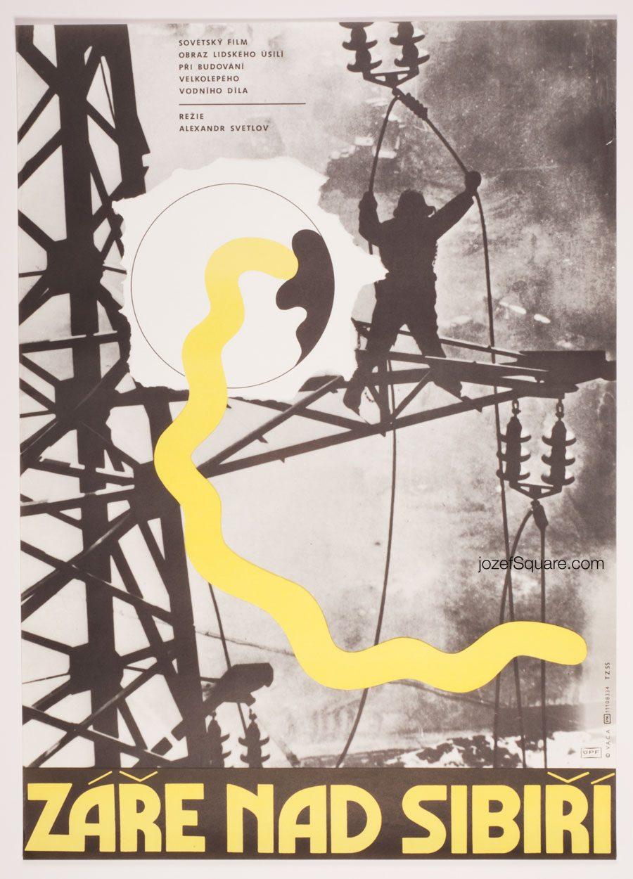 Movie Poster, Glow above Siberia, Karel Vaca