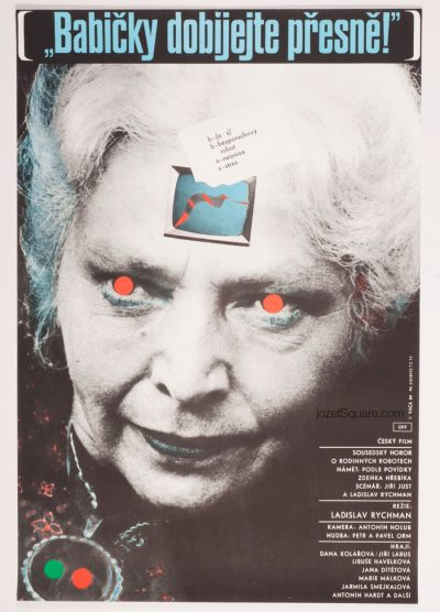 Movie Poster, Recharge Your Grandmothers on Time, 80s Cinema Art