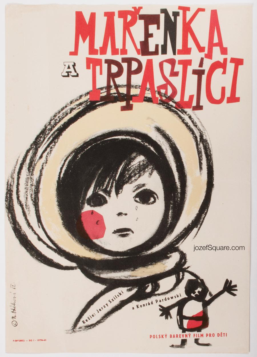 Kids Movie Poster, Marysia and Dwarfs, 60s Cinema Art