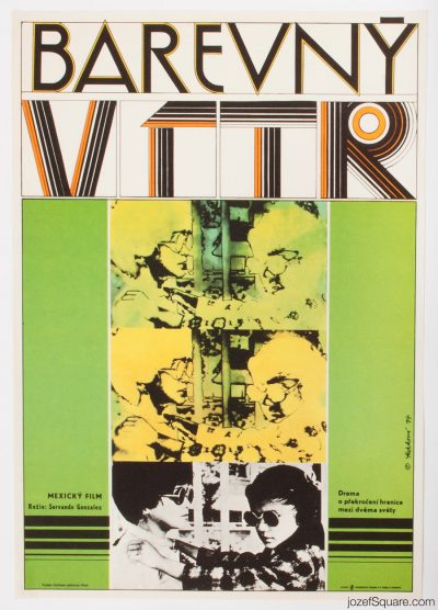 Abstract Movie Poster, What Color Is the Wind, 70s Cinema Art