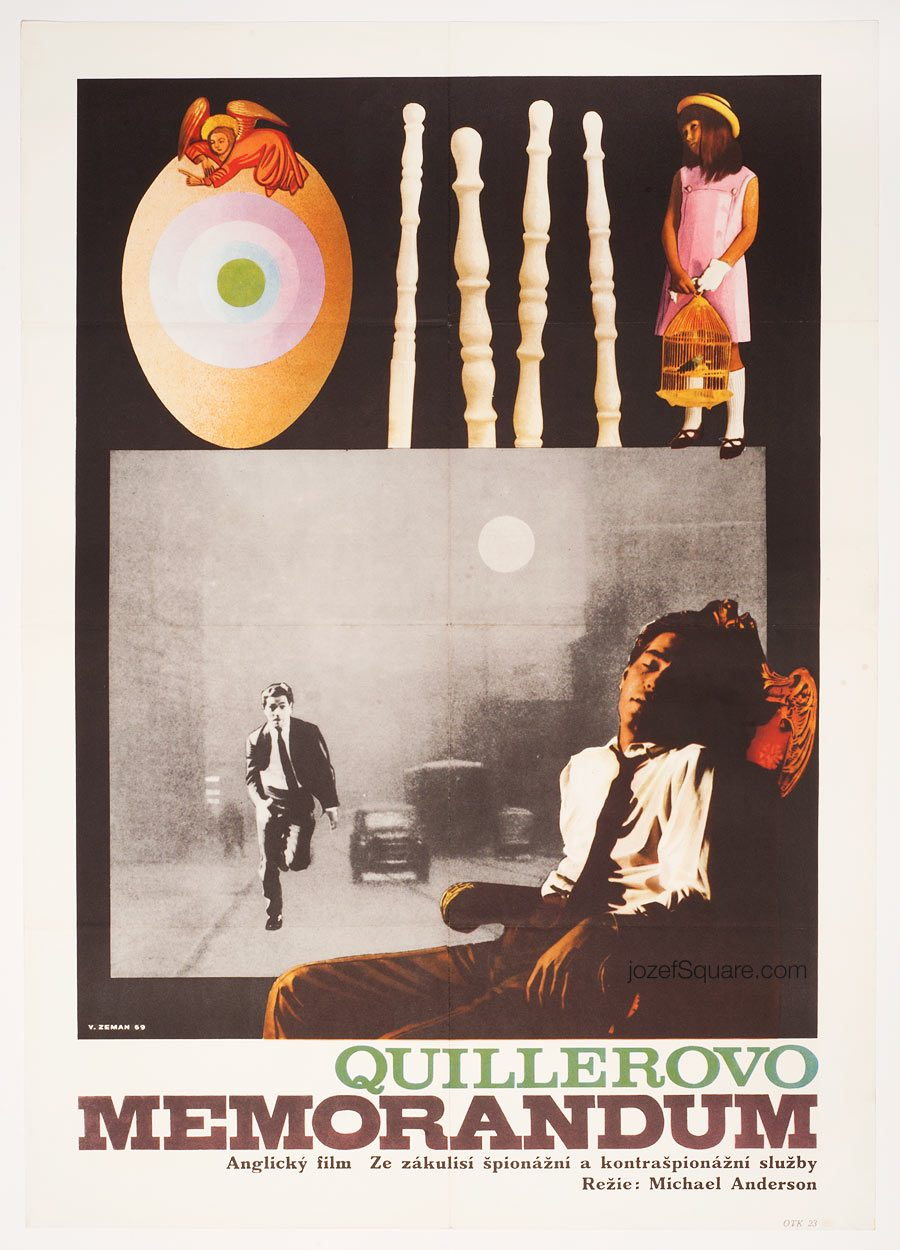 Movie Poster, The Quiller Memorandum, 60s Collage Cinema Art