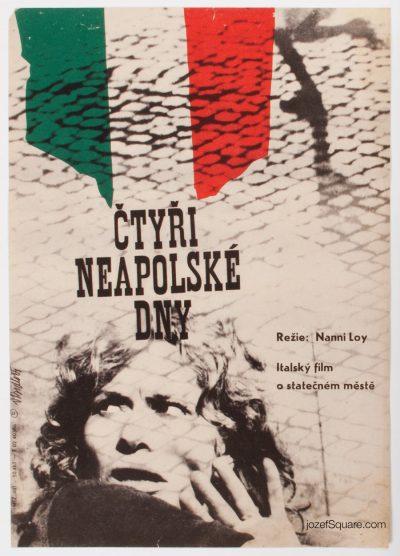 Movie poster, The Four Days of Naples, 60s Cinema Art