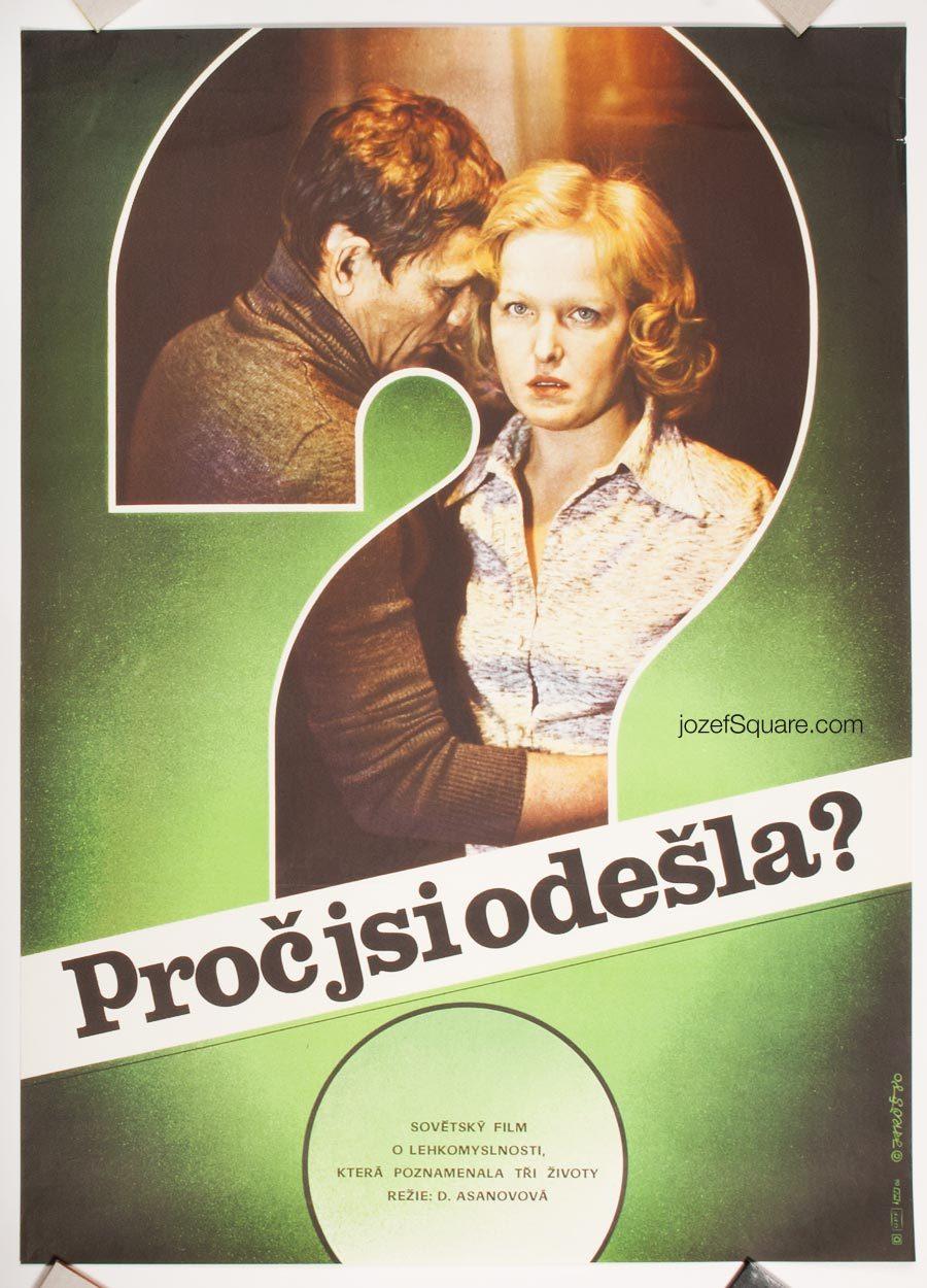 Movie Poster, The Wife Has Left, 80s Cinema Art