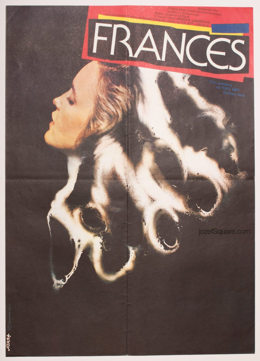 Frances Movie Poster, Jessica Lange, 80s Cinema Art