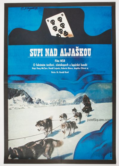 Movie Poster, Hell Hounds of Alaska, 70s Cinema Art